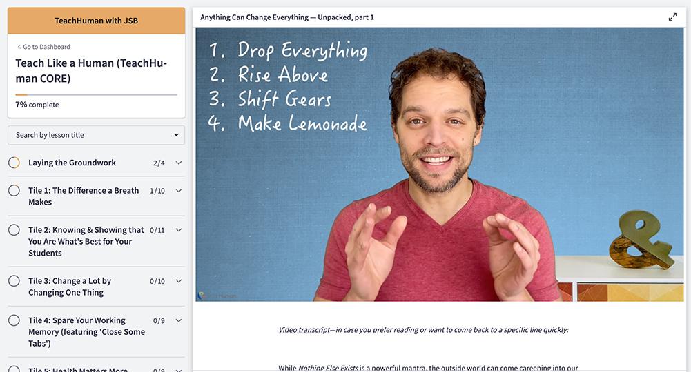teachhuman online courses